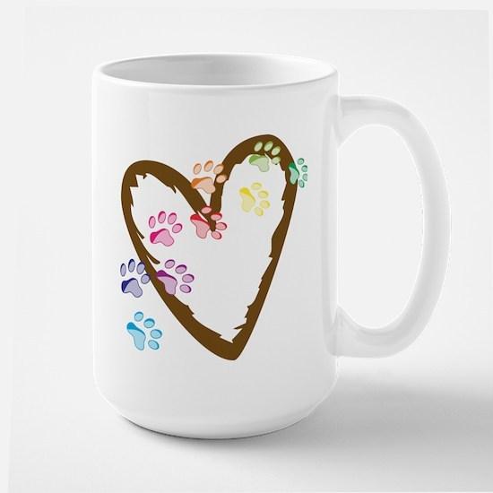Paw Heart Large Mug