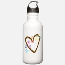 Paw Heart Sports Water Bottle