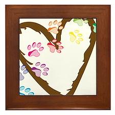 Paw Heart Framed Tile
