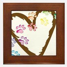 Paw Heart Framed Tile