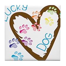 Lucky Dog Tile Coaster