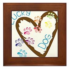 Lucky Dog Framed Tile