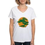 Bonsai Tree Women's V-Neck T-Shirt