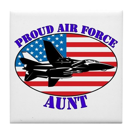 Proud Air Force Aunt Tile Coaster