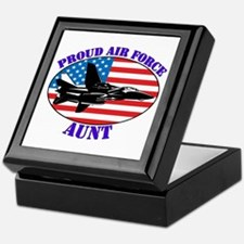 Proud Air Force Aunt Keepsake Box