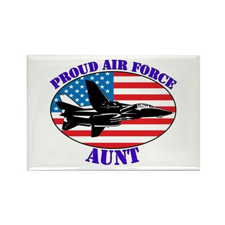 Proud Air Force Aunt Rectangle Magnet (100 pack)