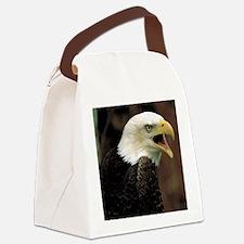 Voiceful Bald Eagle Canvas Lunch Bag