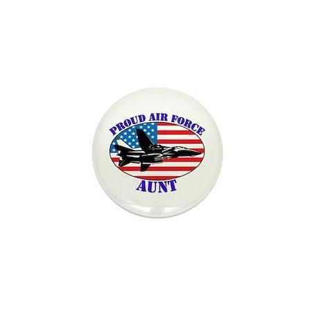 Proud Air Force Aunt Mini Button