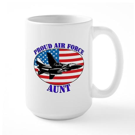 Proud Air Force Aunt Large Mug