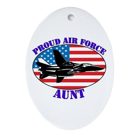 Proud Air Force Aunt Oval Ornament