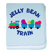 Jelly Bean Train baby blanket