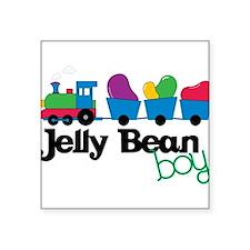 "Jelly Bean Boy Square Sticker 3"" x 3"""