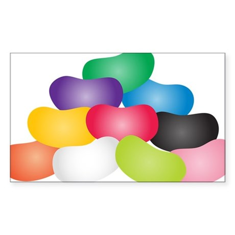 Jelly Beans Sticker (Rectangle)