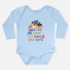 Hand Over Jelly Beans Long Sleeve Infant Bodysuit