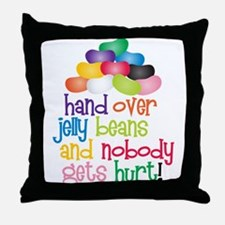 Hand Over Jelly Beans Throw Pillow