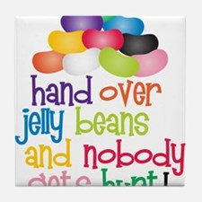 Hand Over Jelly Beans Tile Coaster