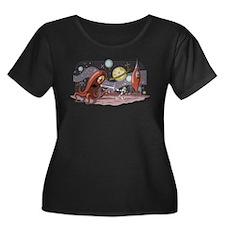 Spaceman_alpha Women's Scoop Plus Size T-Shirt