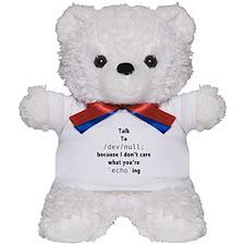 Talk to /dev/null Teddy Bear