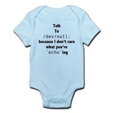 Talk to /dev/null Infant Bodysuit