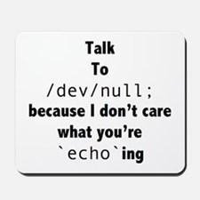 Talk to /dev/null Mousepad