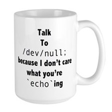 Talk to /dev/null Mug