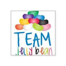 "Team Jelly Bean Square Sticker 3"" x 3"""