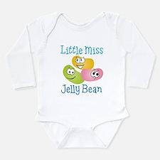 Little Miss Jelly Bean Long Sleeve Infant Bodysuit