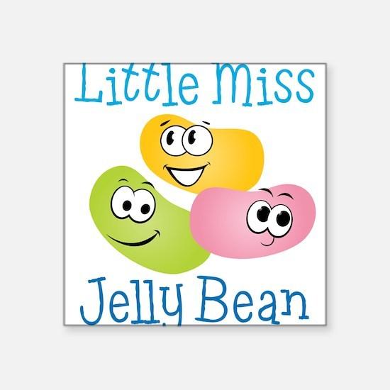 "Little Miss Jelly Bean Square Sticker 3"" x 3"""