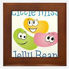 Little Miss Jelly Bean Framed Tile