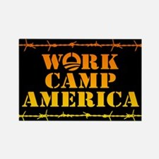 Work Camp America Rectangle Magnet