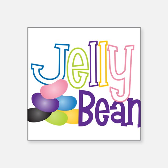 "Jelly Bean Square Sticker 3"" x 3"""