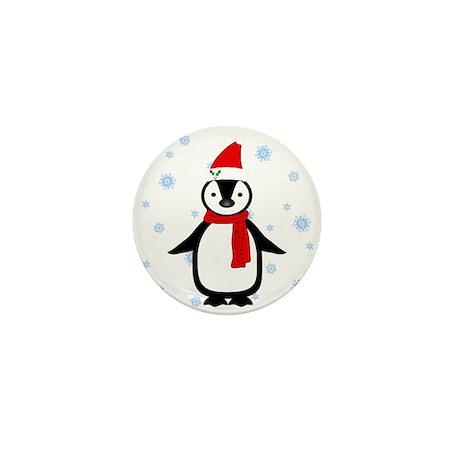 Christmas Penguin Mini Button (100 pack)