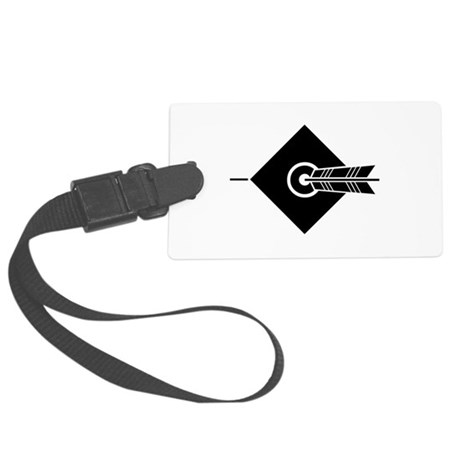 Arrow hit a target Large Luggage Tag