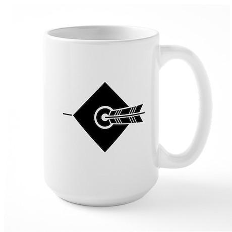Arrow hit a target Large Mug