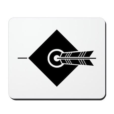 Arrow hit a target Mousepad