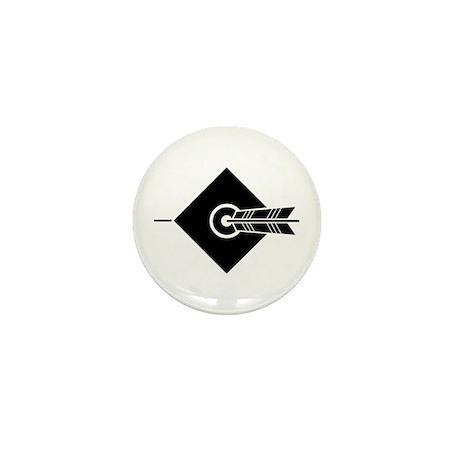 Arrow hit a target Mini Button (100 pack)
