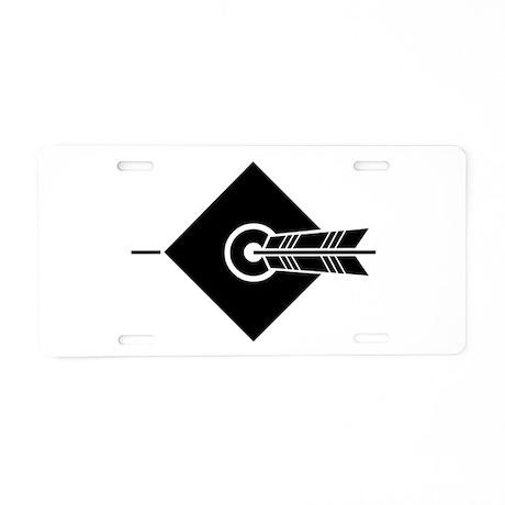 Arrow hit a target Aluminum License Plate