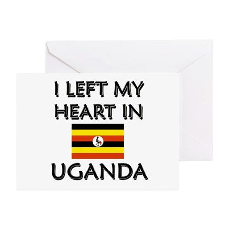 I Left My Heart In Uganda Greeting Cards (Package