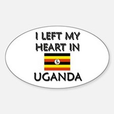 I Left My Heart In Uganda Oval Decal