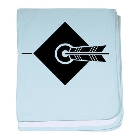 Arrow hit a target baby blanket