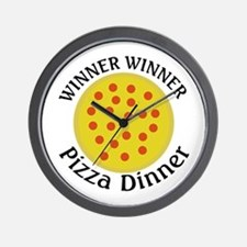 Winner Winner Pizza Dinner Wall Clock