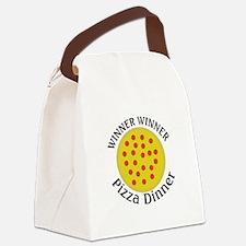 Winner Winner Pizza Dinner Canvas Lunch Bag