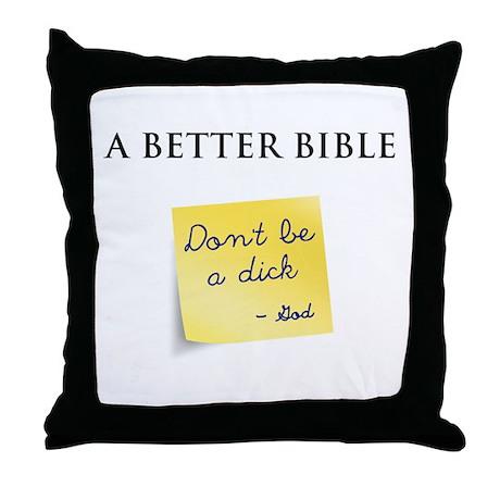 A Better Bible Throw Pillow