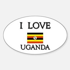 I Love Uganda Oval Decal