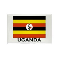 Uganda Flag Merchandise Rectangle Magnet