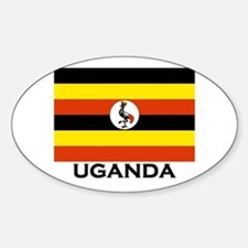 Uganda Flag Merchandise Oval Decal