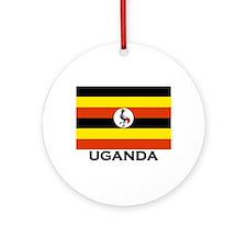 Uganda Flag Merchandise Ornament (Round)