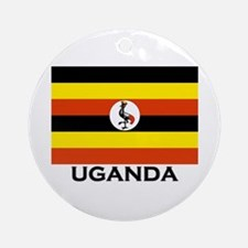 Uganda Flag Merchandise Ornament (Round)