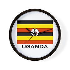 Uganda Flag Merchandise Wall Clock