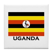 Uganda Flag Merchandise Tile Coaster